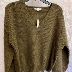 Madewell Green V Neck Sweater Size Large